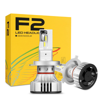 F2 H4 linterna del coche de H7 H4 LED H8/H11 HB3/9005 HB4/9006 H1 H3 9012 H13 9004 9007 72W 12000lm bulbo Auto faro 6000K de luz de trabajo