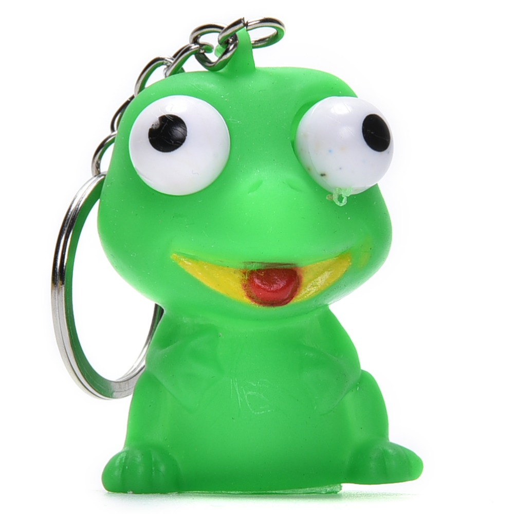 Novelty Products Phone Strap Funny Anti Stress Ball Animal Vent Toy Fun Extruding Big Raised Eyes Doll Keychain Squeezing Toys Mobile Phone Straps