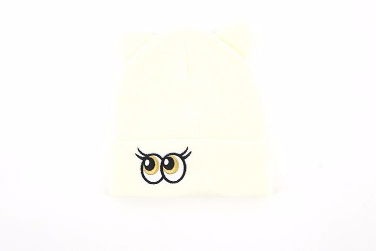Exquisito Jacquard de lana de bebé Ganchillo sombreros de punto para ...