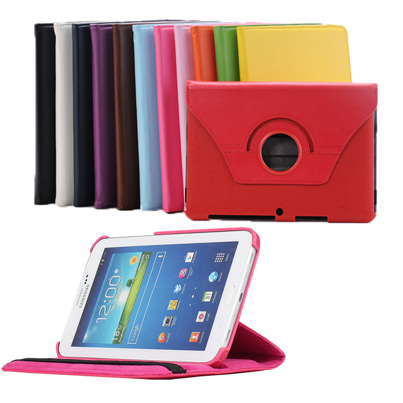360 Degree Rotating Leather Cover For Samsung Galaxy Tab 2 10.1 P5100 P5110 Case with Stand for Samsung Galaxy Tab 2 10.1 P5100
