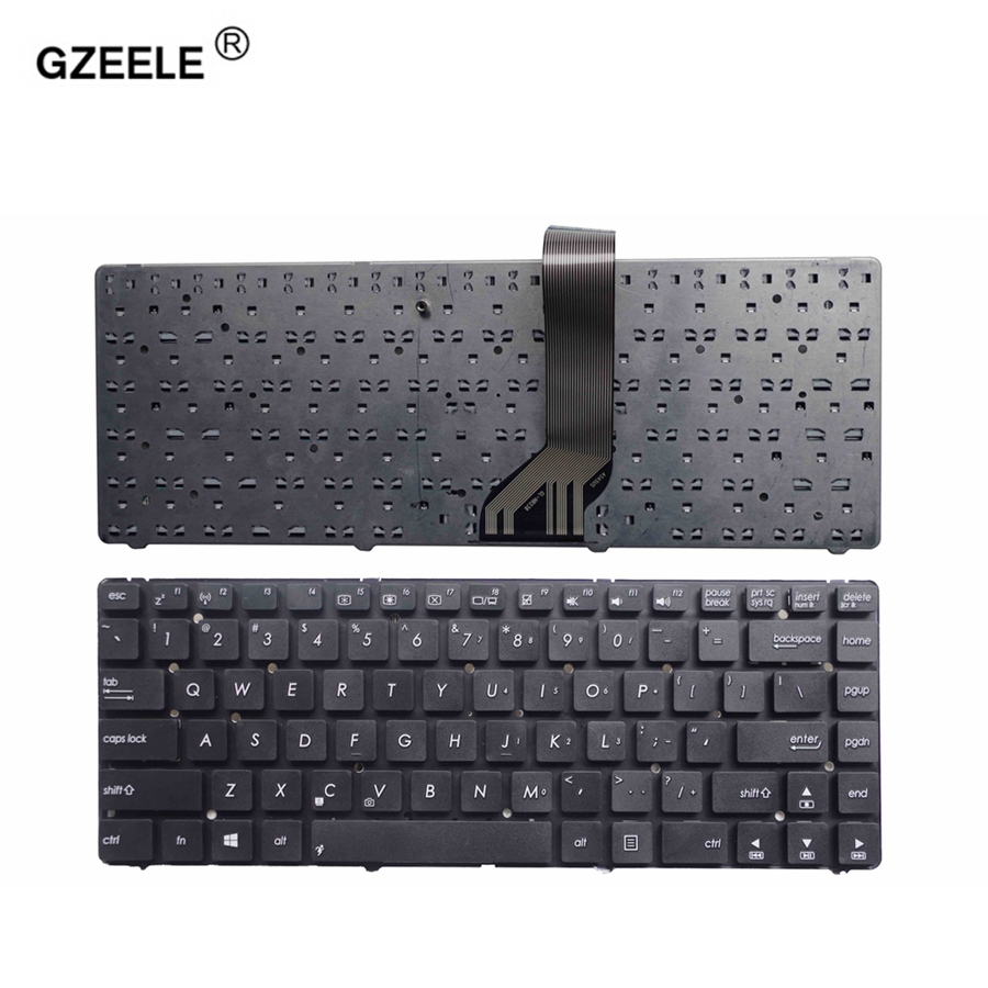 GZEELE English Laptop Keyboard For Asus 400V R400 A45VD A45VM A85V A45V A45 K45V A85 A85V R400 K45VD R400VD Black US Teclado NEW