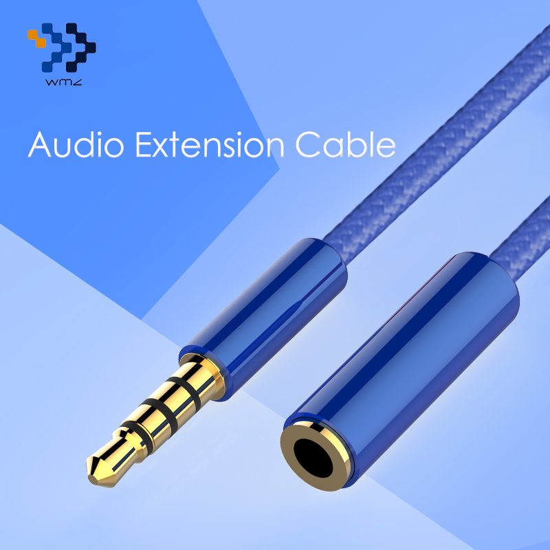 Headphone Extension Aux Cable 3.5MM WMZ For Car Male to Female Audio Jack 3.5 mm For Computer iPhone Player Extender Cord 4 pole free shipping internal motherboard hd ac97 audio 9pin male to female extension extension cable cord 60cm