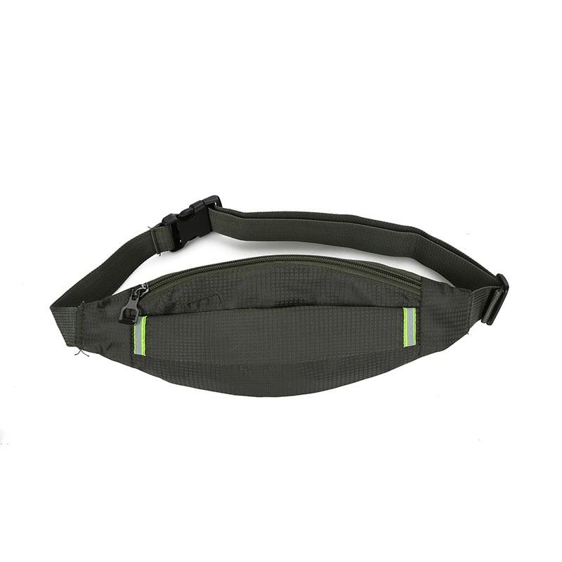 Mini Waist Bag Multi Functional Lightweight Anti-slip Reflective Zipper (Concealed) Phone Storage Pouch Outdoor Travel Running