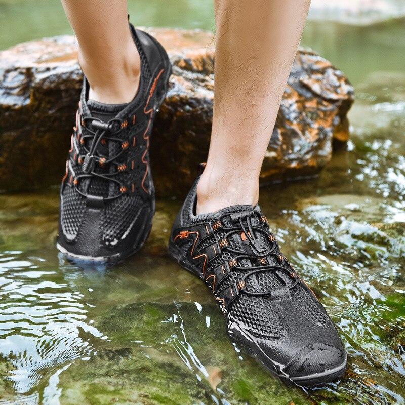 Home Begeistert 2019 Sommer Neue Männer Der Schuhe Nicht-rutsch Schock Absorption Wandern Schuhe Turnschuhe Atmungsaktive Mesh Walking Im Freien Schuhe Mild And Mellow