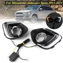 Для Mitsubishi ASX Outlander Спорт 2013-2015 1 комплект светодиодный DRL ходовые огни дневной 12 v сигнальная лампа автомобиль-Стайлинг огни