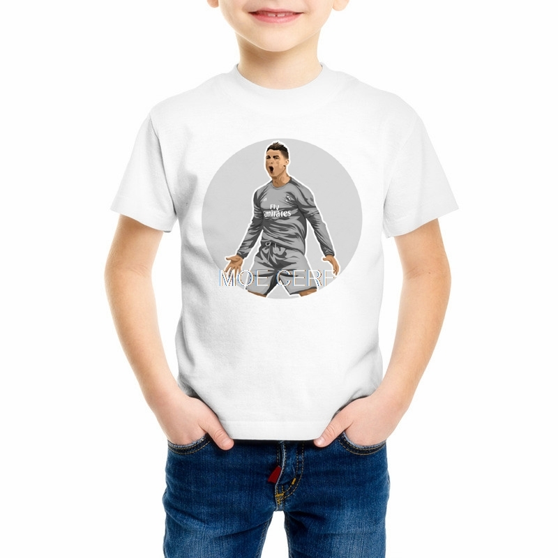 promo code 26511 54df0 US $4.89 30% OFF|Summer fashion Children's 3d print Lionel Messi t shirt  Kid/baby Cristiano Ronaldo short sleeve T shirts Boys/Girls clothes Z9 4-in  ...