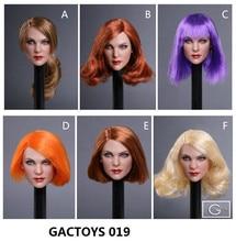 GC019 1/6 Female Head sculpt European beauty 1:6 Girl Sculpt Gina Lollobrigida Carving Toy