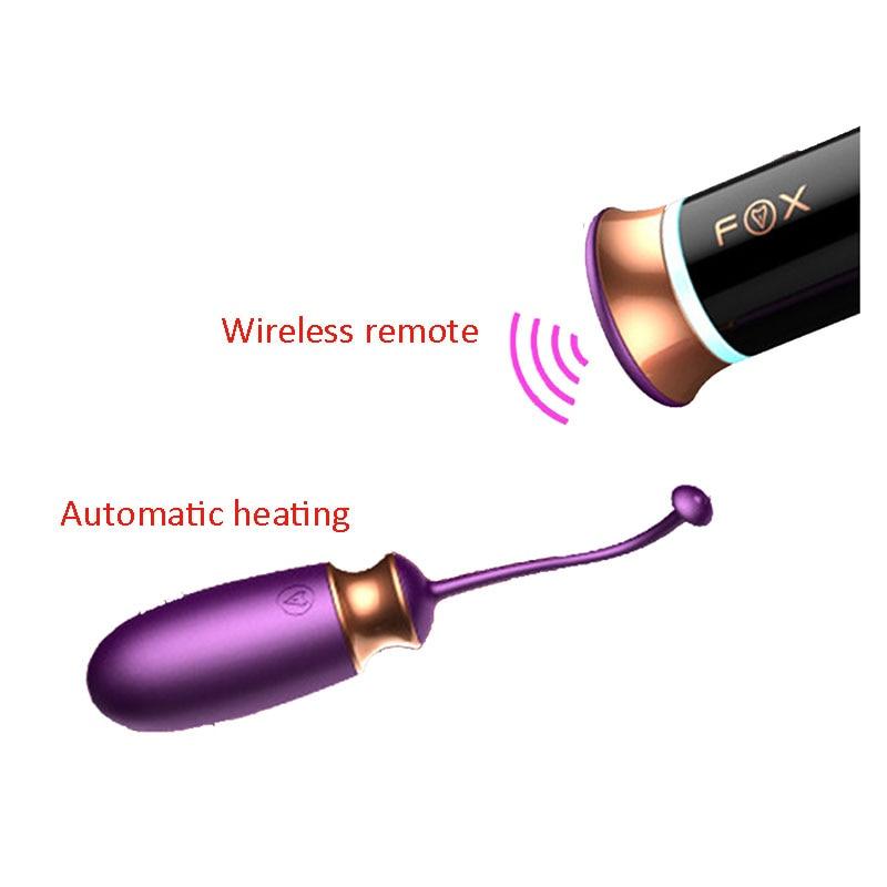 M1 USB Charging Wireless Remote Heating 10 Mode Vibrators Vibrating Egg Vaginal BallsKegel Ball Sex Toys For Women