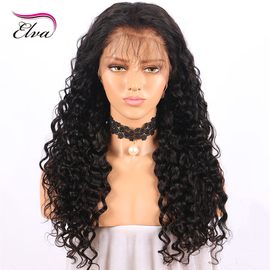 Elva Hair Pre Plucked 360 Lace Frontal Wigs With Baby Hair