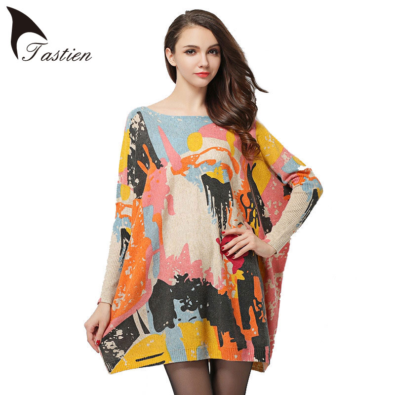TASTIEN Big Size Newest Spring Autumn Winter Womens Fashion Loose Sweater Long Sleeve Elegent Knitwear Pullovers Lady Clothing ...