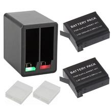 2x1600 mah ahdbt-401 ahdbt401 ahdbt 401 bateria da câmera hero4 hero 4 para IR PRO + Dual port Carregador de Casa para AMKOV 7000 S(China (Mainland))