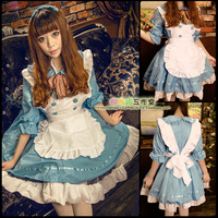 Sexy French Maid Dress Halloween Cosplay Costume Sweet Gothic Women Lolita Dress Cosplay Sissy Maid Uniform For Women