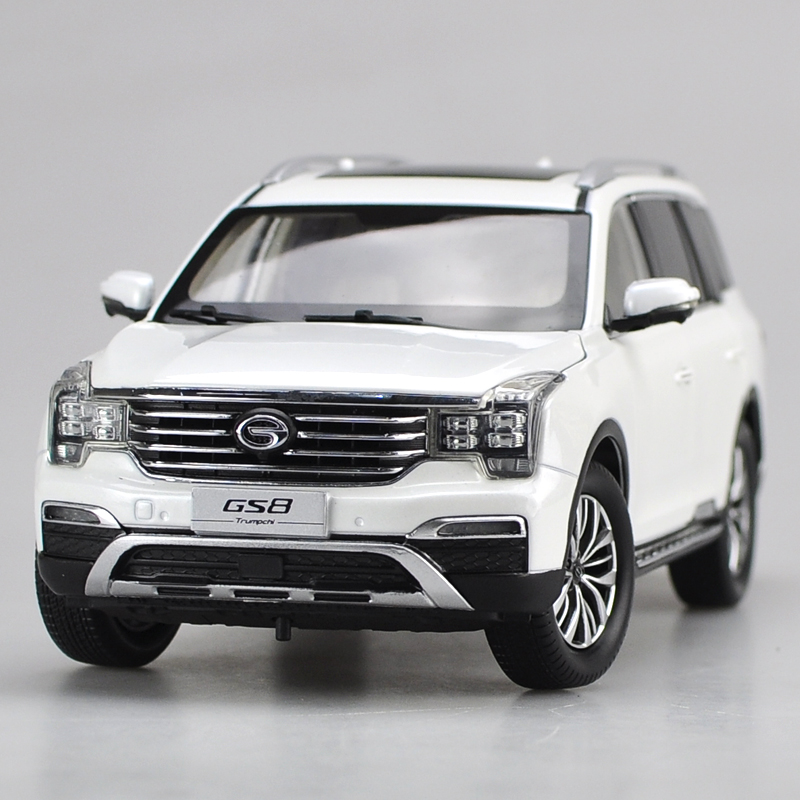 1:18 Diecast Model for China GAC Trumpchi GS8 White SUV Alloy Toy Car Collection Gifts зимняя шина nokian hakkapeliitta 8 suv 265 50 r20 111t