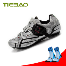 цена на Tiebao road bike shoes Athletic Racing Road Cycling Shoes Self-Locking bicicleta sneakers zapatillas deportivas mujer