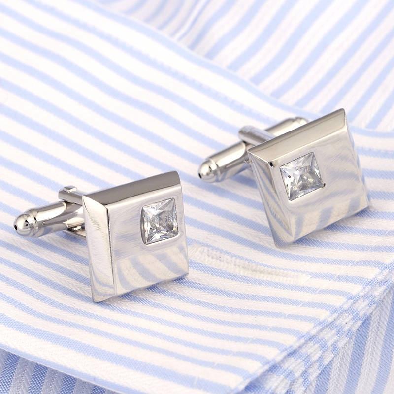 VAGULA Fashion Cufflinks Studs Jewellery French-Shirt Wedding-Collar Gemelos Silver Men