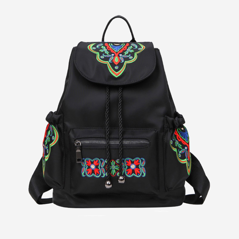 Moccen Eembroidery Backpacks School Bag Fashion Women Bags Cheap School Small Bagpack Casual Style School Knapsacks
