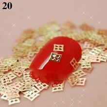 New arrival 3mm/5mm 700pcs/bag Women Metal Gold 3D Nail Art