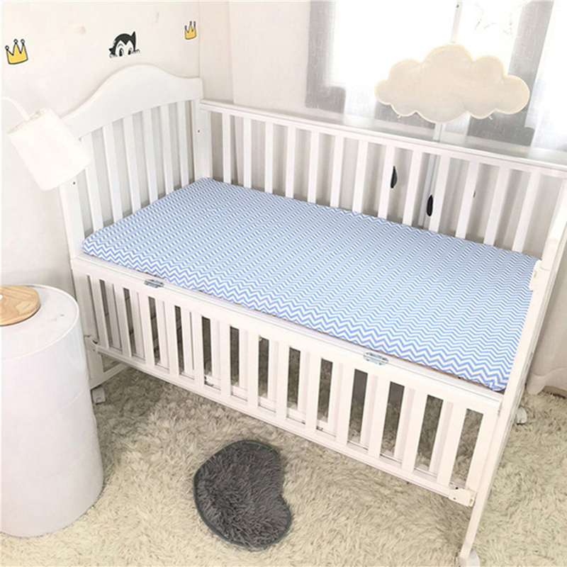 Baby Cotton Bedding Fitted Sheet Bed Cover Cot Bed Crib Mattress Protector Bedspread 130*70 CM