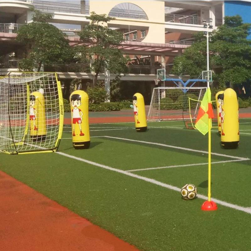 1.6m Inflatable Football Training Goal Keeper Column Stand Tumbler Soccer Train Dummy For Kid Adult B2Cshop