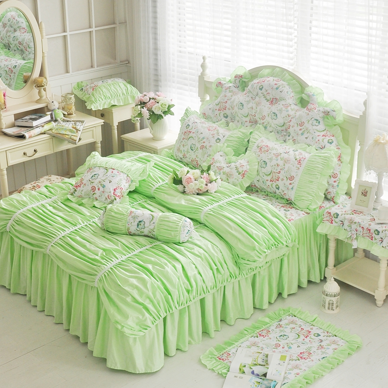 Pink And Green Girl Bedding - Babes-2074