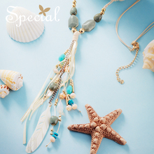 SPECIAL Euramerican ocean wind necklace vogue long paragraph sweater chain tassel shows thin to go far as you S2734N