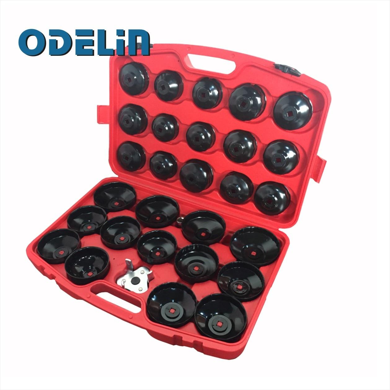 30pc Oil Filter Removal Wrench Cap Car Garage Tool Set Loosen Tighten Cup Socket