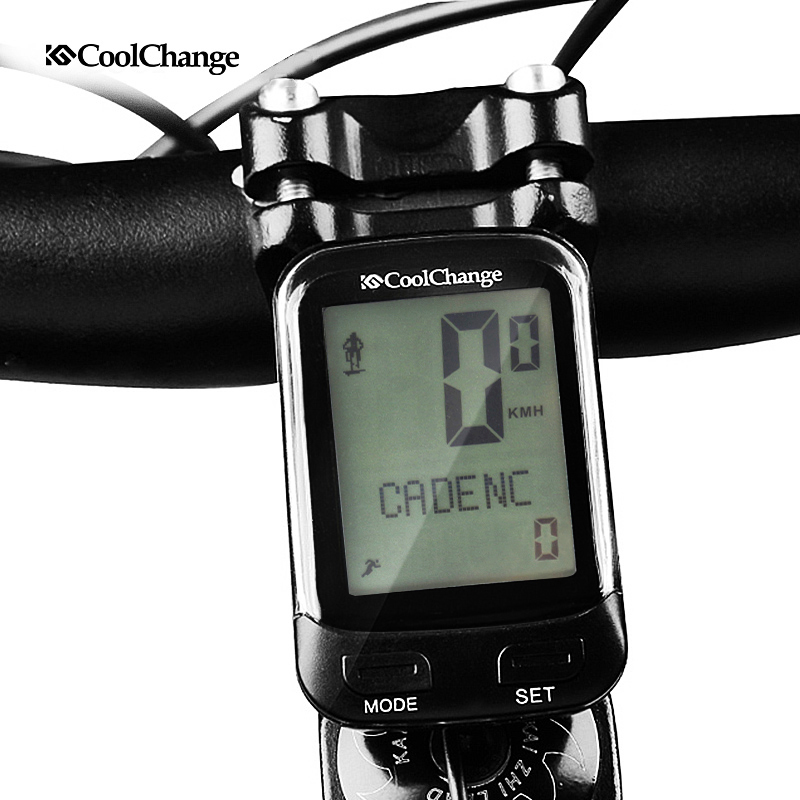 CoolChange Bike Wireless cadence <font><b>Computer</b></font> Rainproof 24 Multifunction Bicycle Odometer Cycling Speedometer Stopwatch Backlight