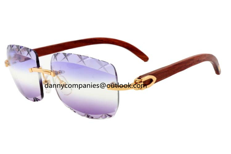 2018 new W Vivien engraved lens sunglasses 8300756 wooden series sunglasses men and women glasses
