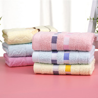 71x32cm Geometric Pattern Face Towels 100% Cotton Fabric For Adults Bathroom Hand Towels