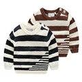 Мальчики свитер Новый Осень Зима Дети бобо выбирает Sriped Свитер Джемпер Для Мальчиков Девочек Детские Осень Свитера Одежда