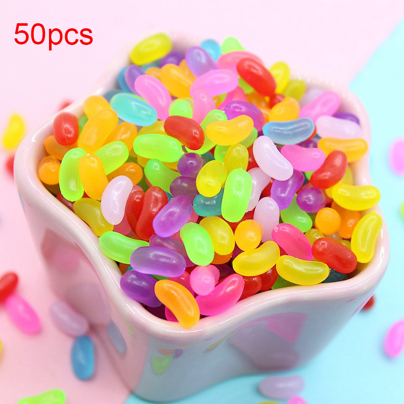 Happy Monkey 50pcs/pack Slime Supplies Toy Colorful Soft Candy Charms Accessories Sprinkles Filler For Fluffy Clear Cloud Slime