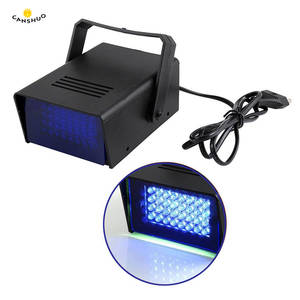 AC110V 220V Brightness 3W 24 LED Operated DJ Strobe Flash Lights Disco Party Club Stroboscope White Stage Light Effects EU Plug