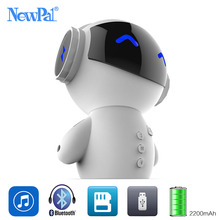 NewPal Robot Bluetooth Speaker Mini Portable Speakers Wireless MP3 Audio Player Power Bank TF Card For All Phones With Mic