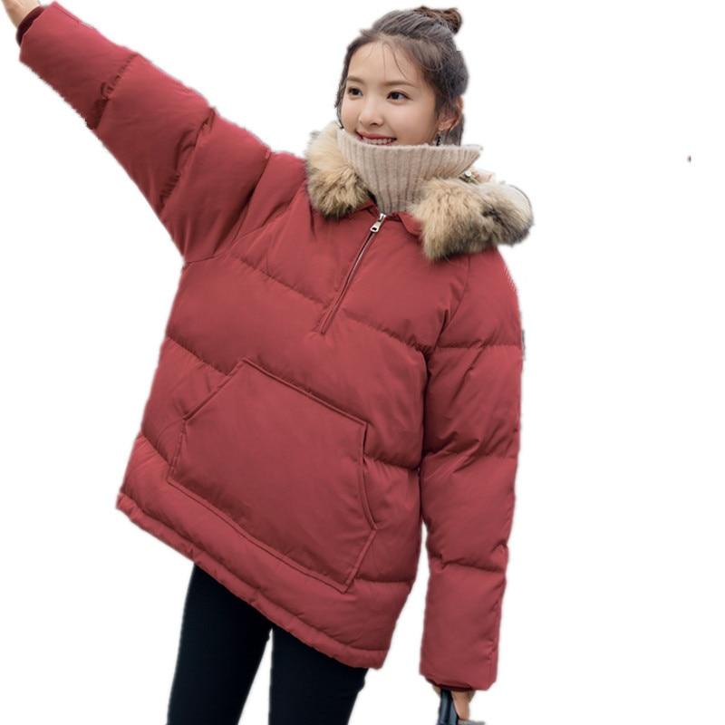 Warm Hooded Loose Cotton Padded Manteau Femme Hiver Pullover   Parka   Women Jackets Casual Oversized Winter Coat Women TT3534
