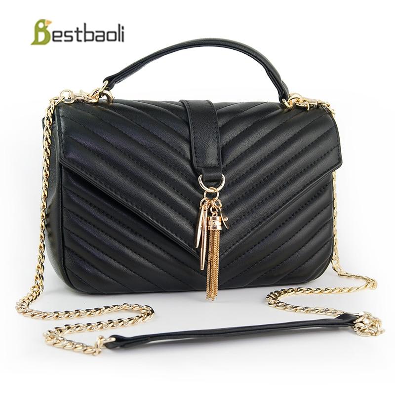 55394df29c3 Detail Feedback Questions about Bestbaoli Fashion Sheepskin Women Shoulder  Bags Genuine Leather Chain Handbag Luxury Designer Ladies Crossbody Bag  Free ...