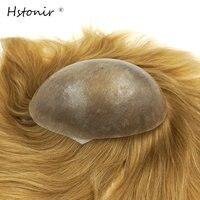 Hstonir Women S Short Hair Pieces Human European Hair Wig Injection Pu Skin Toupet Uomo Iniettato