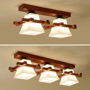 Image 4 - מוצק עץ תקרת מנורת מרפסת אמריקאי סקנדינבי חדש סיני מעבר מסדרון אור lw417627
