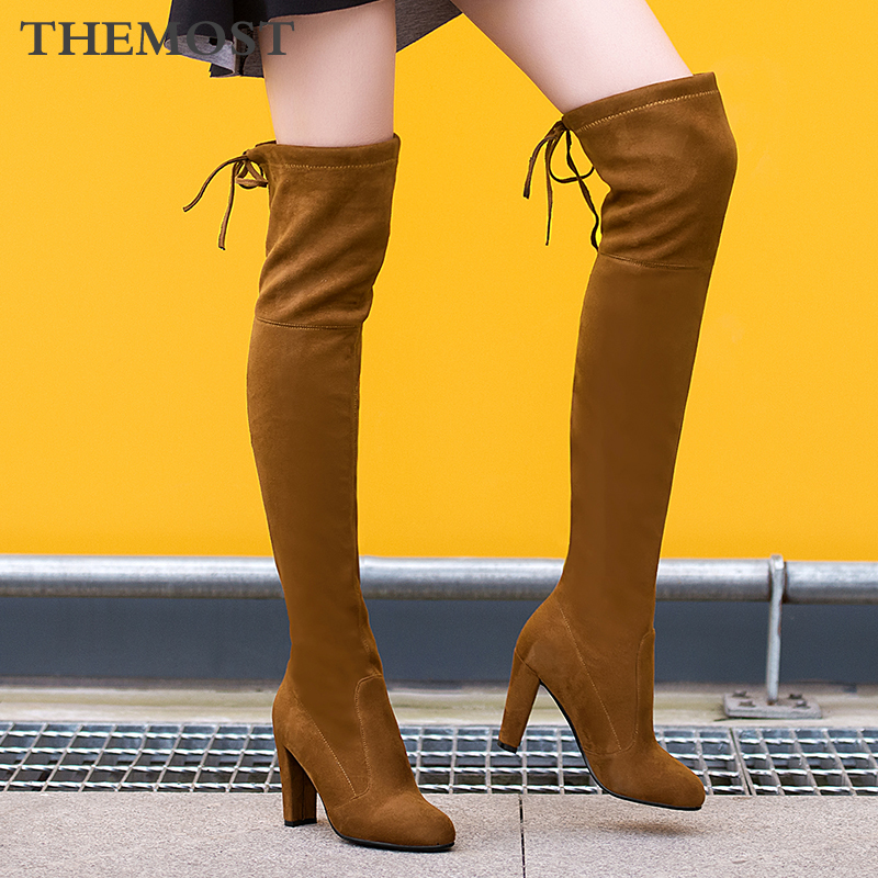 ARQA womens over the knee boots warm short plush lining sheep sued high heel wild 9 color high tube female long bootsARQA womens over the knee boots warm short plush lining sheep sued high heel wild 9 color high tube female long boots
