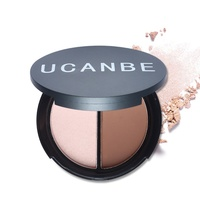 Makeup Two-Color Bronzer & Highlighter Powder Trimming Powder Make Up Cosmetic Face Concealer For Women