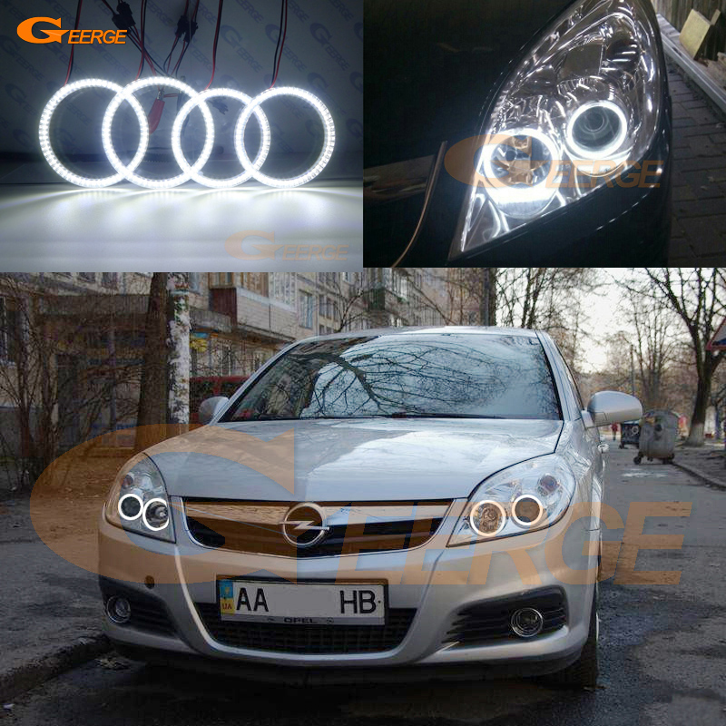 For Opel Vectra C 2005 2006 2007 2008 Excellent Ultra bright illumination smd led Angel Eyes kit DRL for ford fiesta facelift 2005 2006 2007 2008 excellent 4 pcs smd led angel eyes ultrabright illumination angel eyes kit