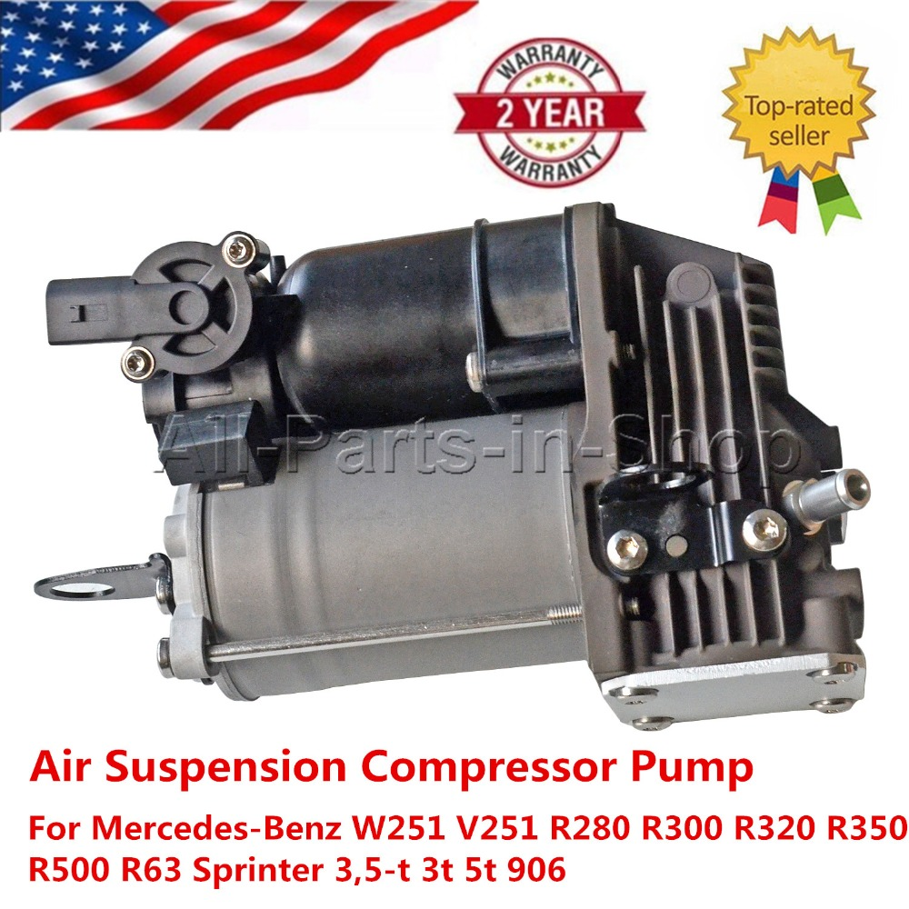 Air Suspension Compressor Pump For Mercedes-Benz W251 V251 R280 R300 R320 R350 R500 R63 Sprinter 3,5-t 3 t 5 t 906
