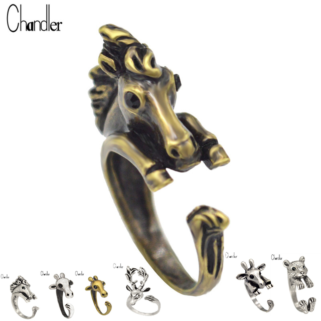 Animal Design Koala Deer Horse Sheep Rings For Women Fashion Jewelry Statement Lovers Wedding Gifts Vintage Silver Bronze Bague