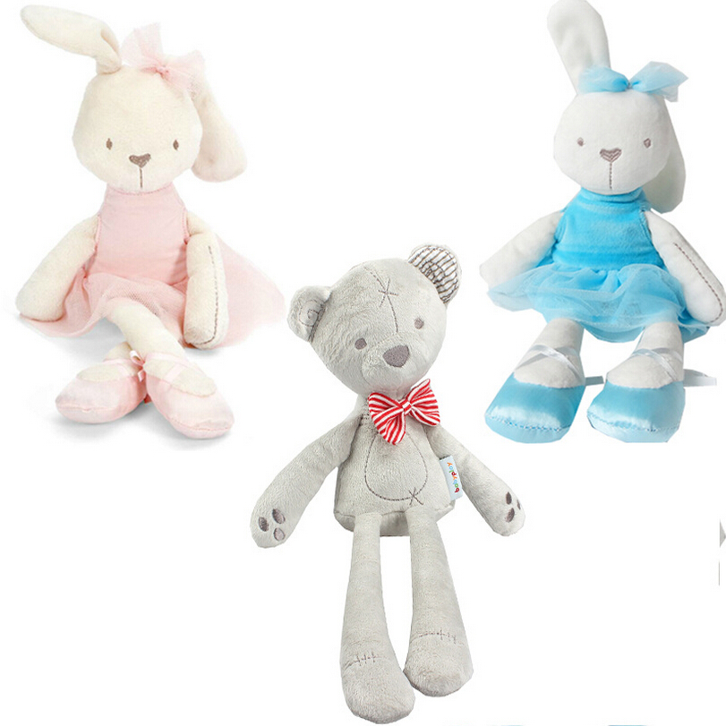 35cm Rabbit Soft Plush Toy Bunny Rabbit Baby Placate Toy Gifts for Girls Children's Christmas Gifts super wholesale 160cm plush toy rascal rabbit large bugs bunny girls gifts christmas gift