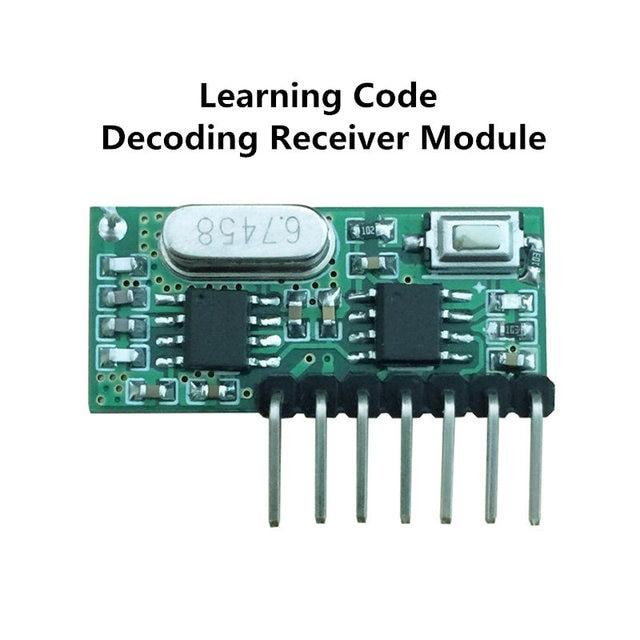 433 mhz rf empf nger learning code ev1527 decoder. Black Bedroom Furniture Sets. Home Design Ideas