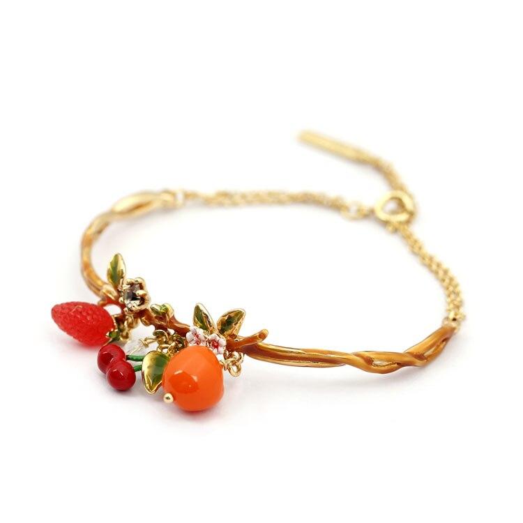 Bracelet de charmes cerise pour femme
