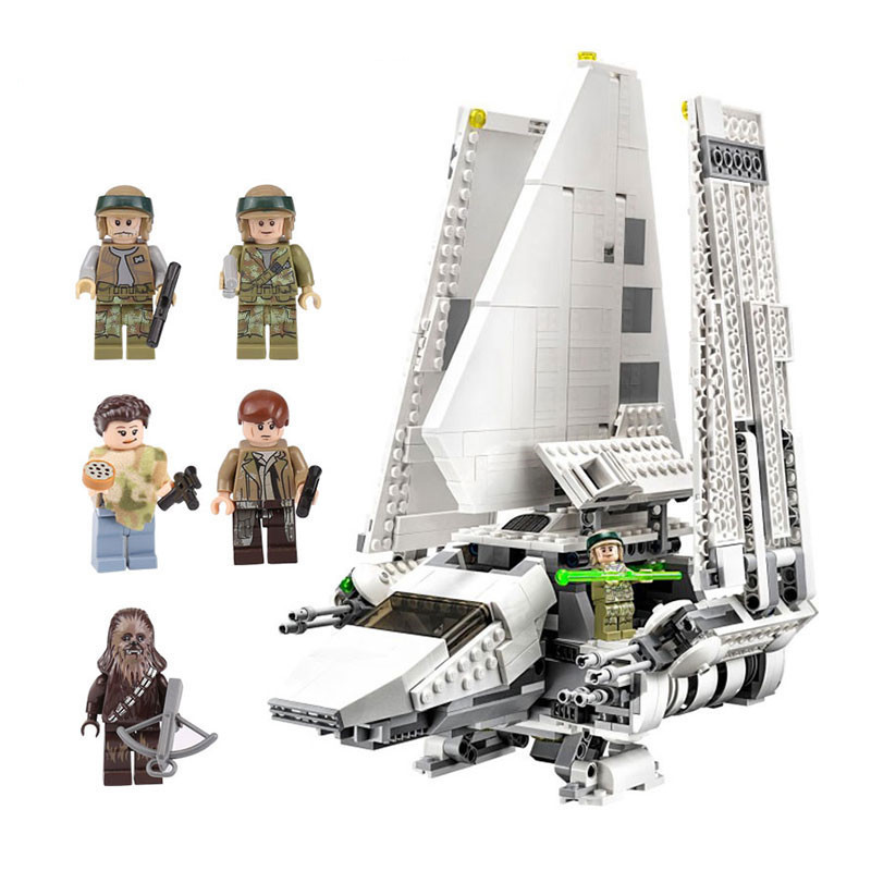937pcs diy Compatible With Legoing Star wars Series The Imperial Shuttle Set Model Building Blocks Bricks Toys for children gift