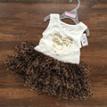 Summer Fashion Leopard-Print Baby Clothing Infant Layered Dresses + Briefs Soft Lace Girl's Dress Princess Outfits Kids Clothes