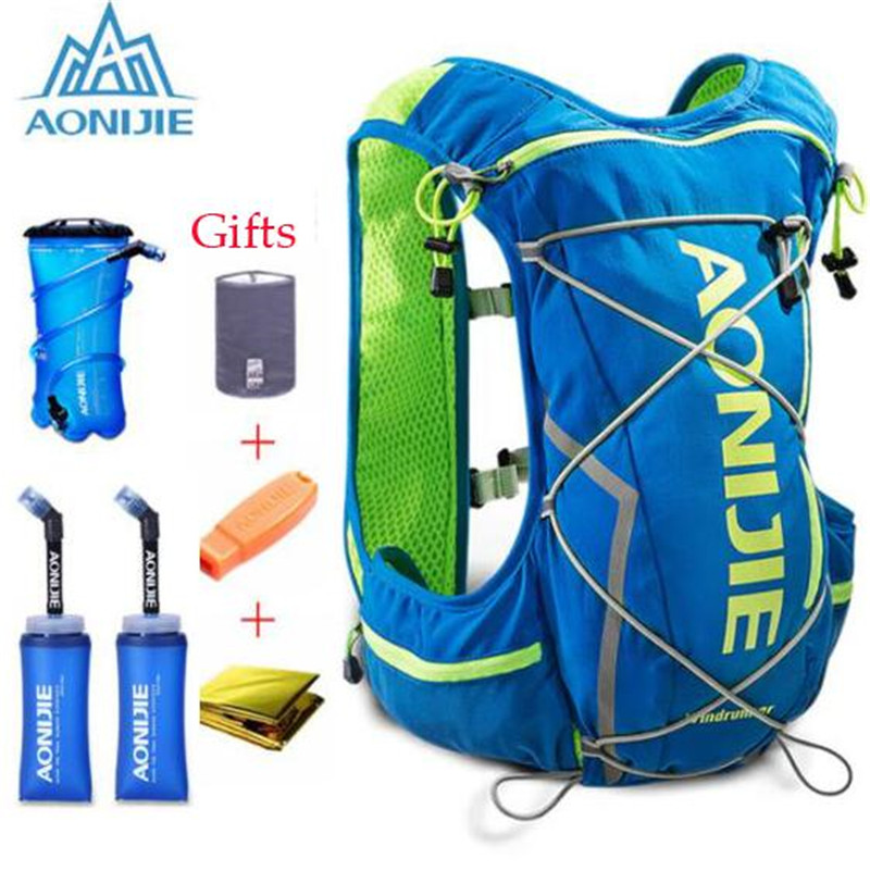 AONIJIE Outdoor Camping Hiking Bag Bicycle Cycling Bags Backpack Vest Professional Marathon Running Backpack 10L Men Women in Running Bags from Sports Entertainment