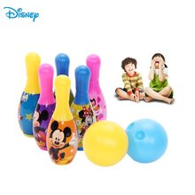 Disney 6Pcs Children Bowling Sets Outdoor Family Games Bowling Sports Ball Kids Toy Bowling Set Boy Mini ADJY36126(China)