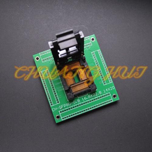 IC51-0804-394 test socket TQFP80 LQFP80 QFP80 ic socket with PCB test socket